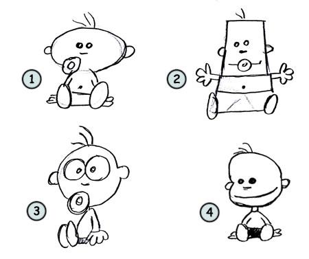how to draw a newborn dog