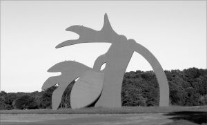 """The Stargazer,"" a famous sculpture in Manorville, signalling one's entry to the East End"